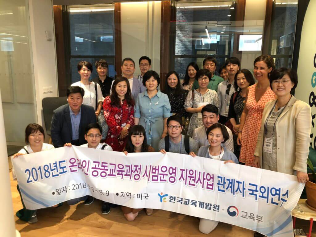 delegation from ministry of education of south korea